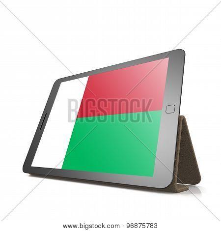 Tablet With Madagascar Flag
