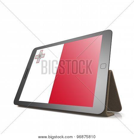 Tablet With Malta Flag