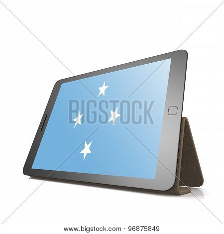 Tablet With Micronesia Flag
