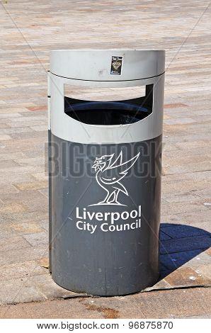 Liverpool Litter Bin