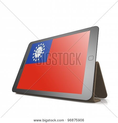 Tablet With Myanmar Flag
