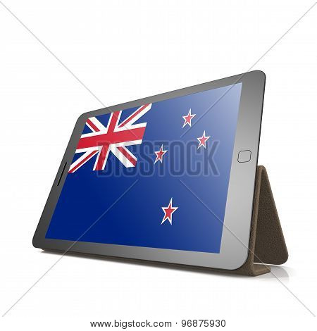 Tablet With New Zealand Flag