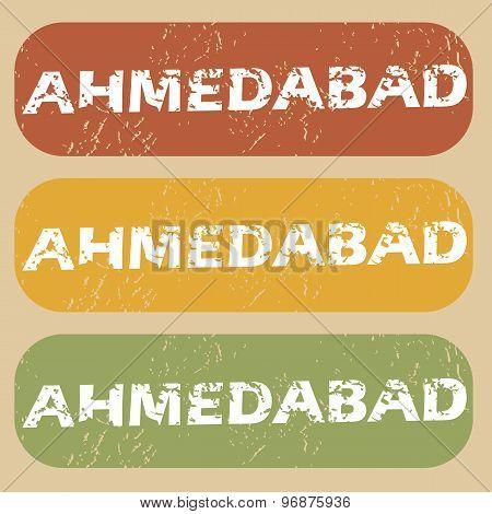 Vintage Ahmedabad stamp set
