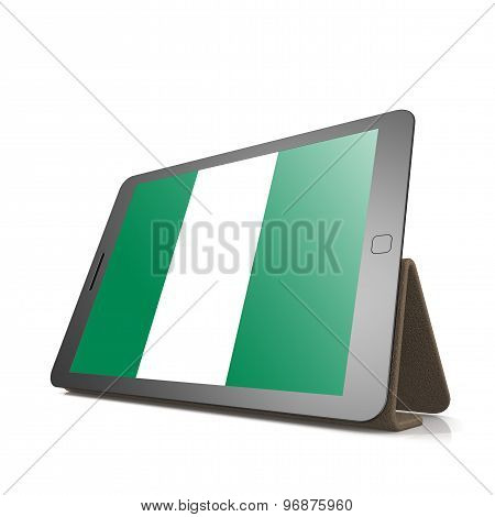 Tablet With Nigeria Flag