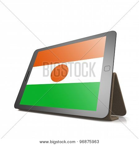 Tablet With Niger Flag