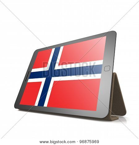 Tablet With Norway Flag