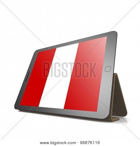 Tablet With Peru Flag