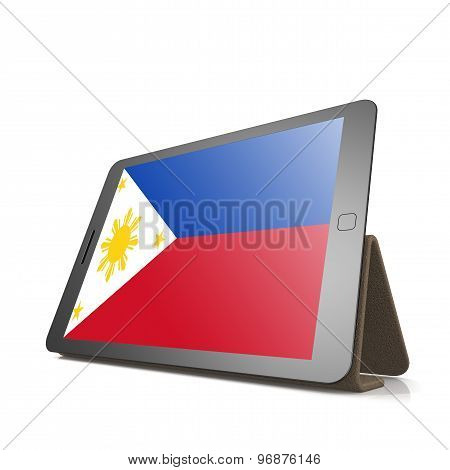 Tablet With Philippines Flag