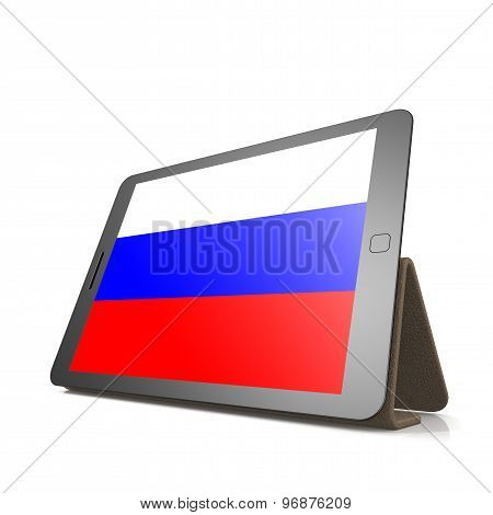 Tablet With Russia Flag