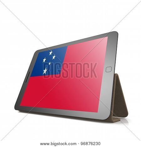Tablet With Samoa Flag