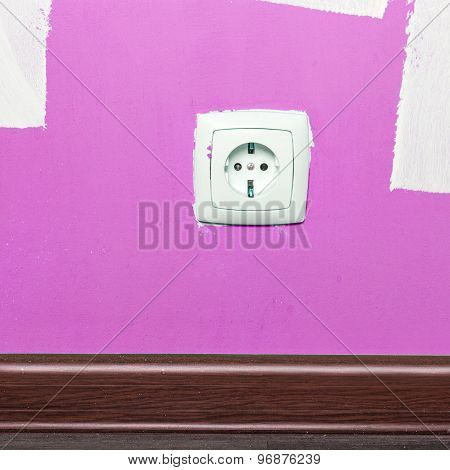Electrical Outlet On Wall In Room