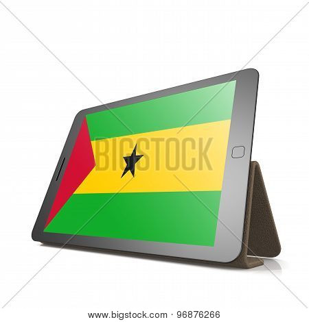 Tablet With Sao Tome And Principe Flag