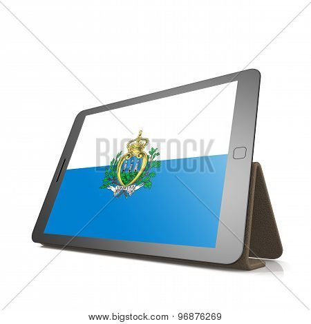 Tablet With San Marino Flag