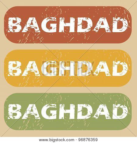 Vintage Baghdad stamp set