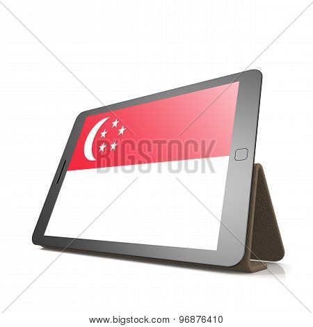 Tablet With Singapore Flag