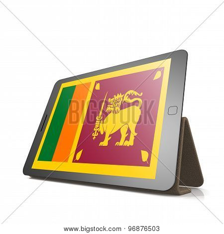 Tablet With Sri Lanka Flag