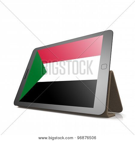 Tablet With Sudan Flag