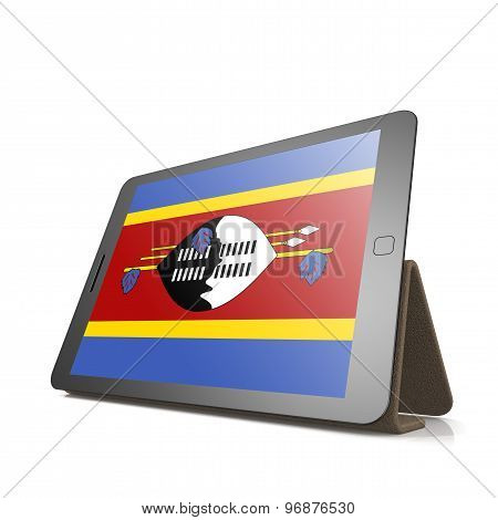 Tablet With Swaziland Flag