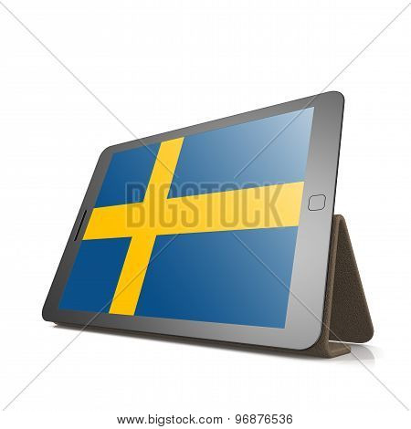 Tablet With Sweden Flag
