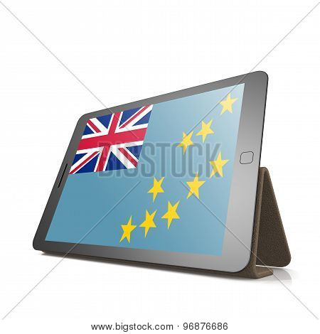 Tablet With Tuvalu Flag