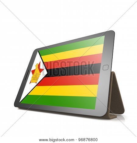 Tablet With Zimbabwe Flag