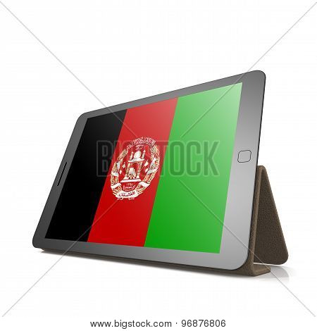 Tablet With Afghanistan Flag