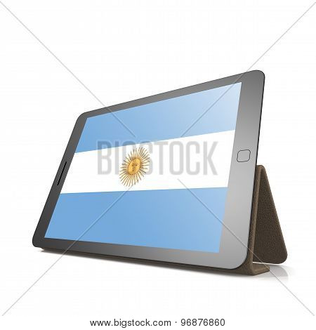 Tablet With Argentina Flag