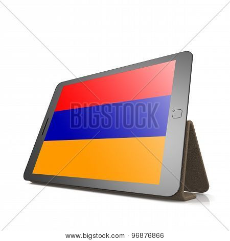 Tablet With Armenia Flag