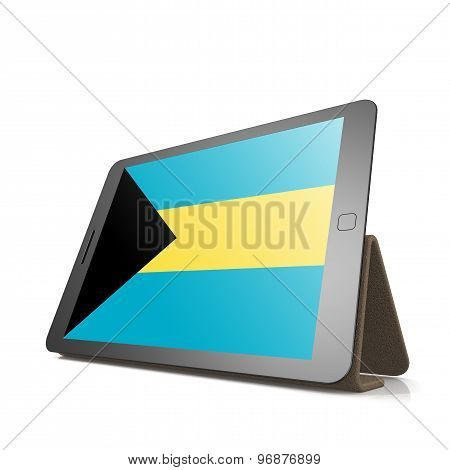 Tablet With Bahamas Flag