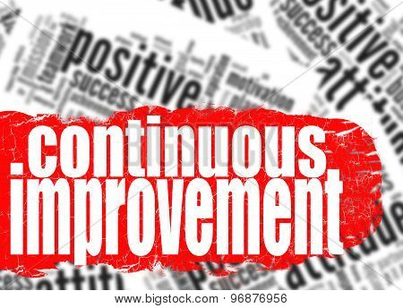 Continuous Improvement Word Cloud