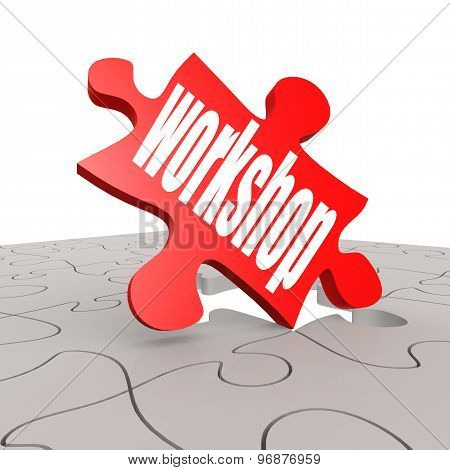 Workshop Word With Puzzle Background