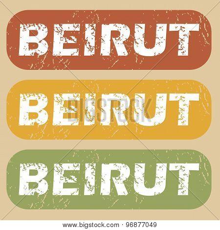 Vintage Beirut stamp set