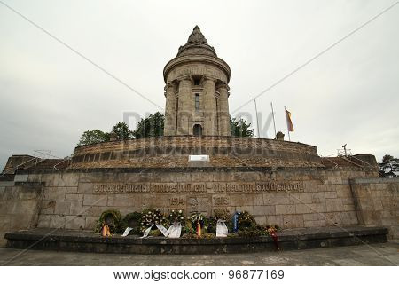 Burschenschaftsdenkmal In Germany With Wreathes