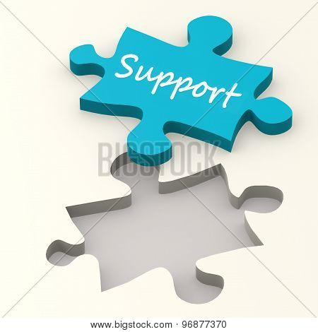Support Blue Puzzle