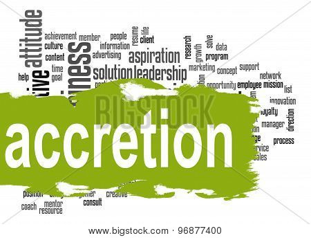 Accretion Word Cloud With Green Banner