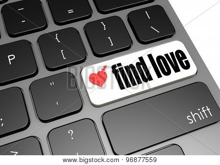 Find Love Black Keyboard