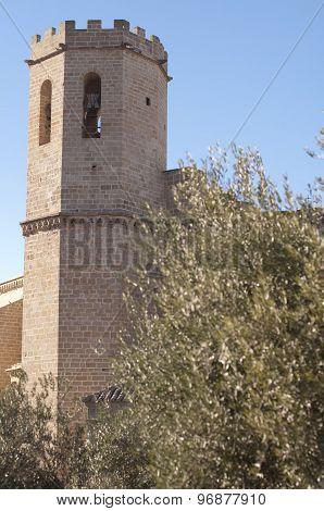 Bell Tower In Valderrobres