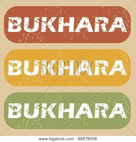 Vintage Bukhara stamp set