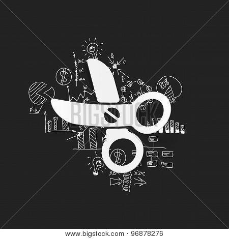 Drawing business formulas: scissors