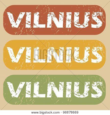 Vintage Vilnius stamp set