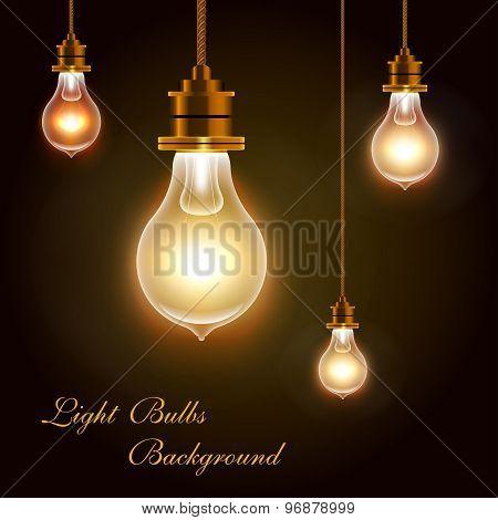 Modern Vector Bulbs Background