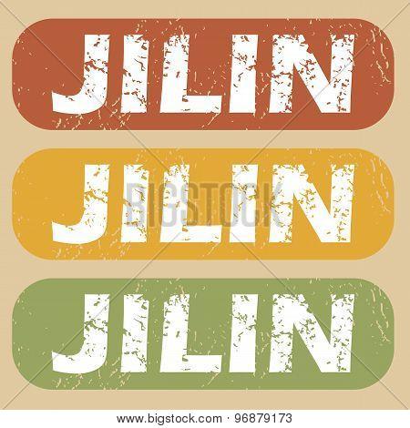 Vintage Jilin stamp set