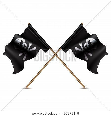 Jolly roger crossed flags.