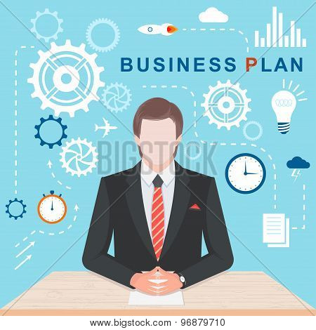 Flat Illlustration Business Plan