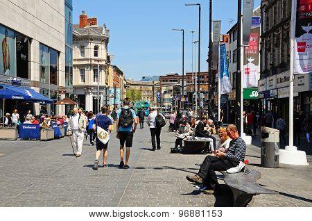 Whitechapel Shopping Street, Liverpool.