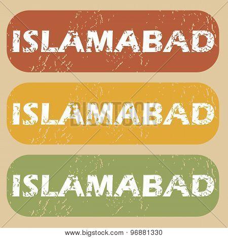 Vintage Islamabad stamp set