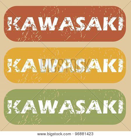 Vintage Kawasaki stamp set