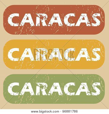 Vintage Caracas stamp set