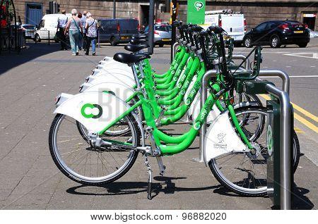 Liverpool City Hire Bikes.