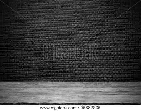 Wooden Floor And Black wall